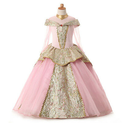 Classic Fairy Tale Girls Disney Princess Dress Birthday Party Cosplay Costumes