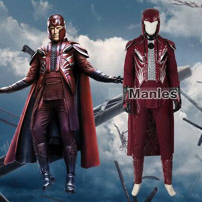 X-Men Apocalypse Magneto Costume Erik Lehnsherr Cosplay Fancy Dress Christmas