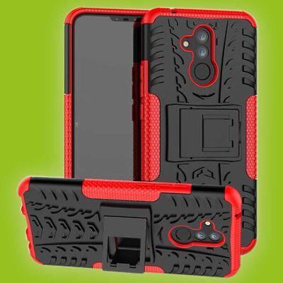 Für Huawei Mate 20 Lite Hybrid Case 2teilig Outdoor Rot Tasche Cover Hülle Etui