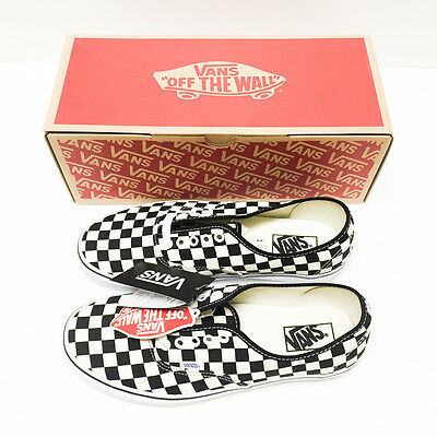0508ac02fa4 VANS Authentic Golden Coast Checker BK WH sz 9.5 100% AUTHENTIC Checkerboard