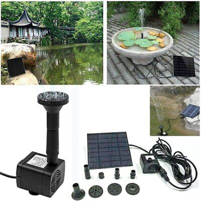 Submersible Solar Powered Bird Bath Water Fountain Pump For Pool Garden Aquarium