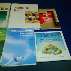 lot de 15 livres en finances, gestion et ressources humaines