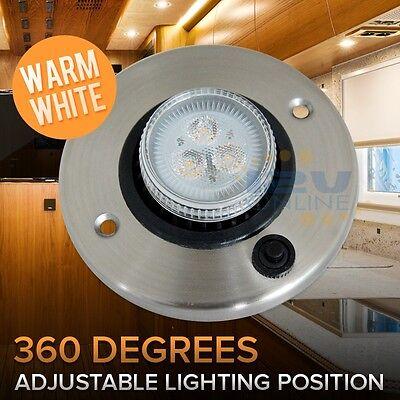 12V LED Directional Eyeball Cabinet Reading Light RV Trailer Cargo Boat Switched (Led Eyeball)