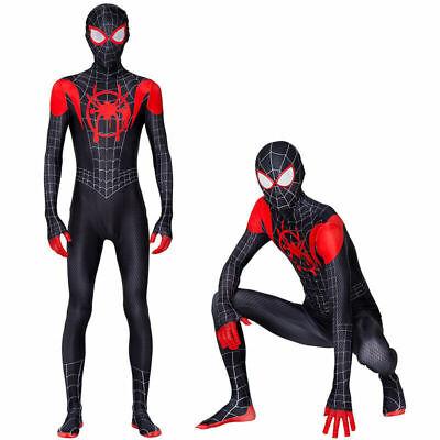 2020 US Spider-Man Miles Morales Cosplay Costume Adult Spandex Zentai Bodysuits