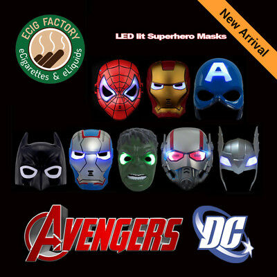 Super Hero Avengers Hulk Batman Captain America Spiderman & Iron man LED Mask Captain America Maske