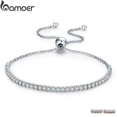 Funkelnde Stränge Tennis Armbänder Silber Weihnachten Hochzeit Geschenke für