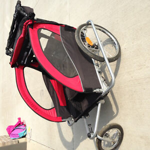 3in1 Double Baby Bike Trailer/jogger