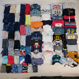 Baby boys 12-24 months 1-2 years clothes bundle 87 Items