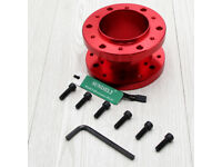 Silver 2/'/' 50mm Steering Wheel Boss Kit Spacer Adapter For Universal OMP Hub