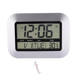 New Large Atomic Indoor Outdoor Self setting Digital Wall Clock with Temperature