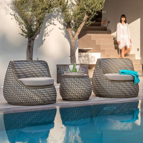 Garden Furniture - Outdoor Delux Furniture Lounge Wicker Chairs Table Bistro Patio Garden Cushioned
