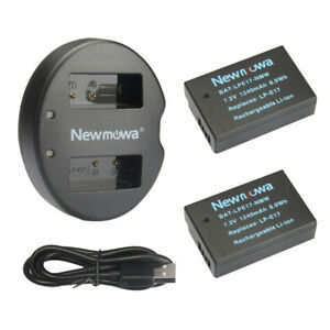 Newmowa LP-E17 Batt(2 Pack) and Dual USB Charger Kit for Canon