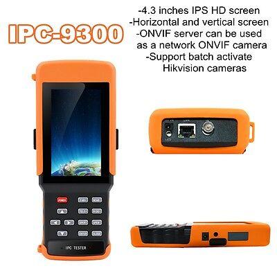 Ipc-9300 4.3 Horizontal Vertical Ipc Video Monitor Network Camera Tester Dc 12v