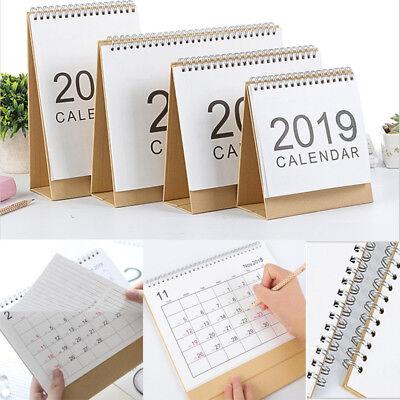 2018 - 2019 Desktop Flip Calendar Stand Up Table Planner Office Room Home Desk