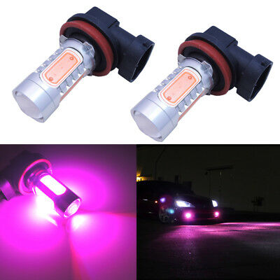 2pcs Bright Pink H11 H8 Car Truck Driving Fog Lights Lamp High Power LED Bulbs