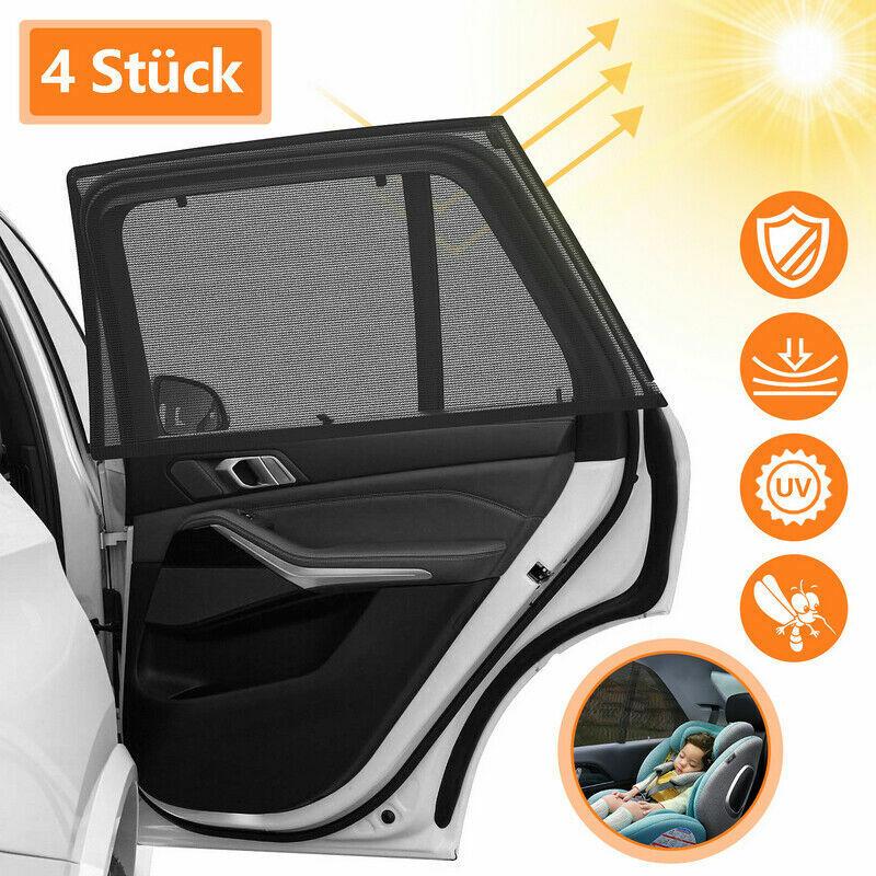 4X Auto Sonnenschutz UV Schutz Mesh Sonnenblende Universal für Kinder Baby