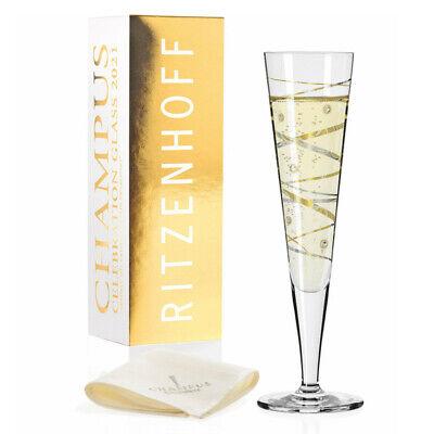 Ritzenhoff Champus Celebration Glas 2021, Champagnerglas, Kristallglas, 205 ml