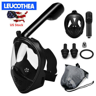 Seaview 180° Full Face Snorkel Mask Scuba Diving Snorkeling Set For GoPro Dry US](Scuba Masks)