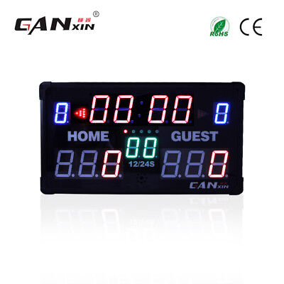 Scoreboard 3 trainers4me large led multifunctional scoreboard basketball game timer greentooth Images