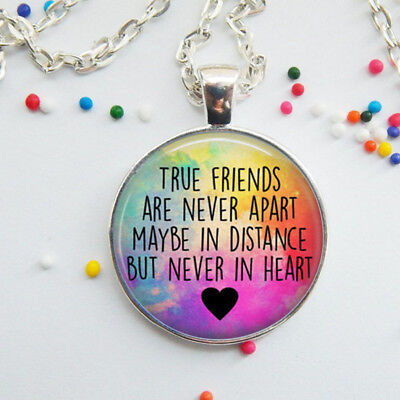 Best Friend Sentence Letters Necklace Glass Dome Pendant Necklace Jewelry