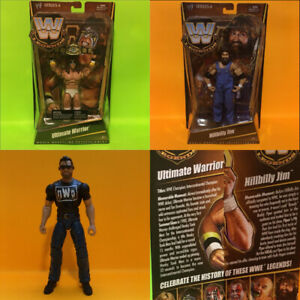 WWE Elite Hillbilly Jim Ultimate Warrior  Scott Hall WWF figures