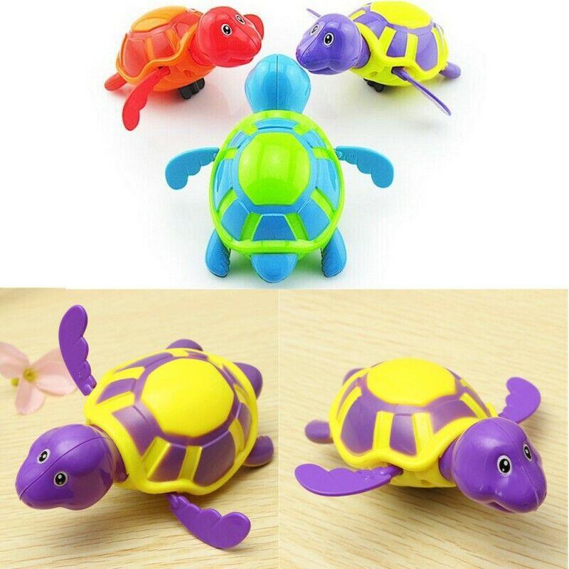 Wind-up Swimming Turtle Bathing Splashing Toys For Baby Kids Bath Bathtub Time