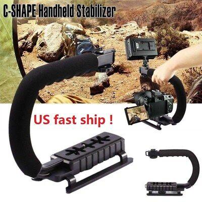 C shape Bracket Handle Grip Stabilizer fr DSLR SLR Camera Camcorder Video 11.4''