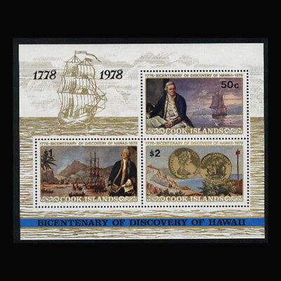 Cook Is, Sc #482a, MNH, 1978, S/S, Ships, Bicentennial, SH91F