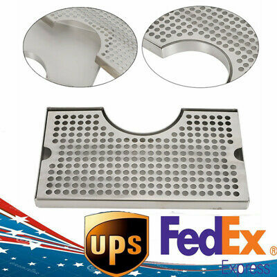 Beer Drip Tray Stainless Surface Mount Kegerator With Tower Cut Out No Drain New