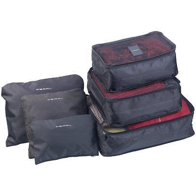Koffer Organizer: 6er-Set Kleidertaschen für Koffer, Reisetasche & Co., 6
