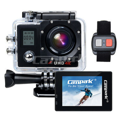 Campark ACT76 Ultra HD 4k/30fps WiFi Sports Action Kamera DVRCAM w/Fernbedienung