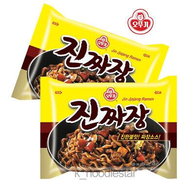 [Ottogi] JinJjajang Ramen Black Bean Sauce Korean Food Noodles 135 g × 2 ea