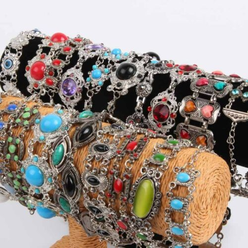 12pcs mix lot tibet charms silver women bracelets party fashion ethnic jewellery