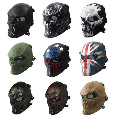 Scary Face Masks (Skull Ghost Skeleton Full Face Mask Knight Party Scary Horror Terrifying)
