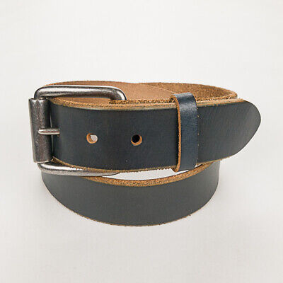 WILL Leather Goods 'Harlequin' Wide Basic Black Leather Casual Work Belt - 32 Basic Leather Belt