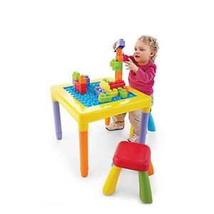 NEW: PLAYGO 'My Play Table' With 2 Stools(Reversible table top)