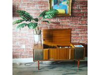Excellent Condition Professionally Restored Vintage Mid Century Modern 1221 Radiogram Stereogram