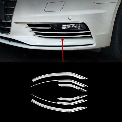 Car Front Grille Fog Lamp Decorative Cover Trim Strips For Audi A3 Sedan 2013 16