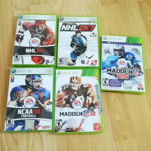 5 video games for xbox 360