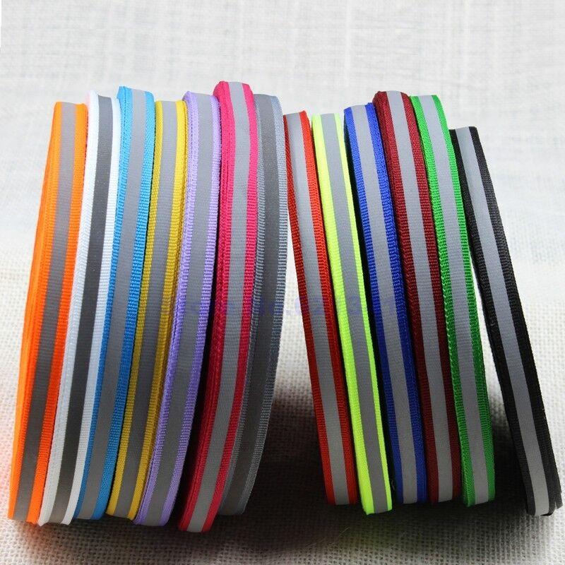 5m Reflektorband neongelb 25mm Reflexband Reflexstreifen silber reflektierend 1
