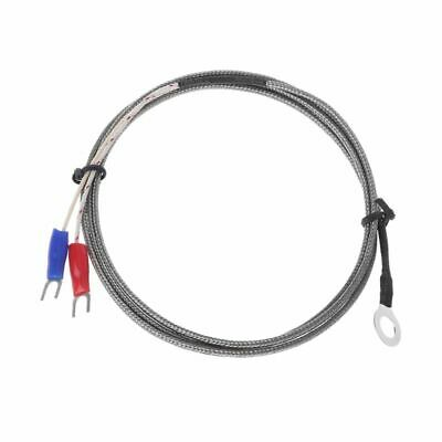 6mm Hole Washer K Type Thermocouple Temperature Sensor Probe 1m Cable