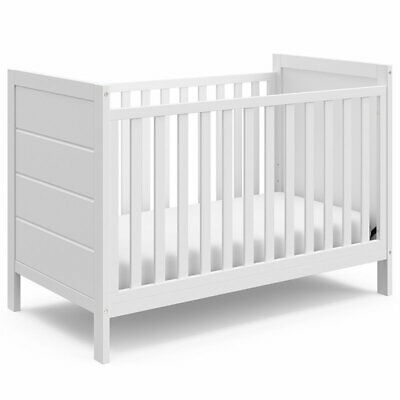 Storkcraft Nestling 3 in 1 Convertible Crib in White