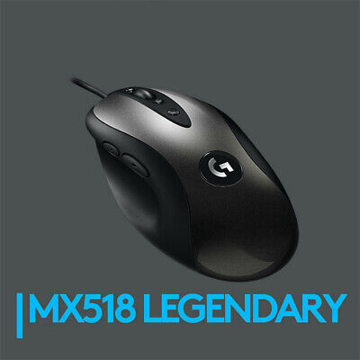 NEW Logitech MX518 LEGENDARY Gaming Mouse PLAY ADVANCED 16000DPI 400IPS
