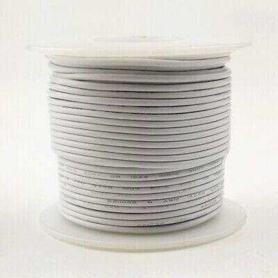 20 Awg Gauge Stranded White 300 Volt Ul1007 Pvc Hook Up Wire 100ft Roll 300v