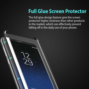FULL GLUE Tempered Glass Protector For Samsung S8, S9, Note 8