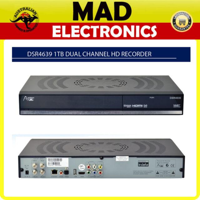 Altech UEC VAST Satellite DIGITAL TV PVR DSR4639 1TB Twin Tuner HD Recorder NEW!
