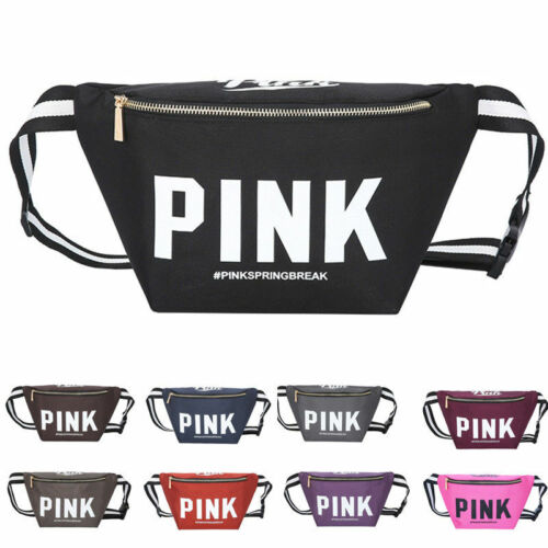 Victoria/'s Secret Pink ORANGE Fanny Pack Purse Pouch Pack Waist Bag Case Sport