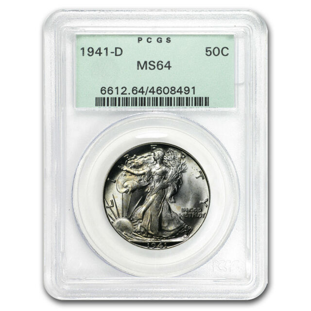 1941-D Walking Liberty Half Dollar MS-64 PCGS (Old Holder)