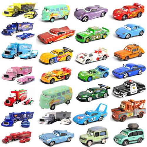Disney Pixar Cars 3 2 1 Diecast Metal Frank Sally Mcqueen Mater King Tractor Toy