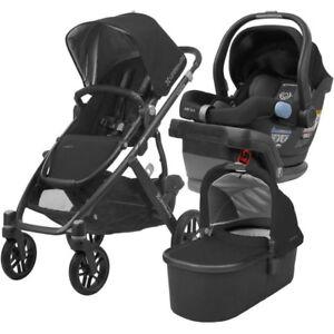 Uppababy Vista Stroller Bassinet Car Seat Adapter 3 In1